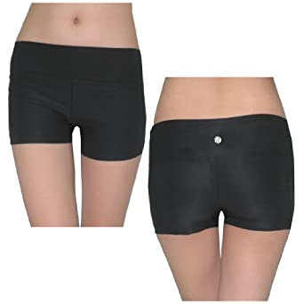 Bally Total Fitness Womens Athletic Fitness Training & Yoga Shorts Small Black
