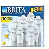 Brita 42609 Pitcher Replacement Filters, 10-Pack
