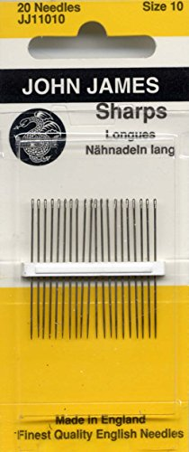 Colonial Needle 20 Count John James Sharps Needle, Size 10