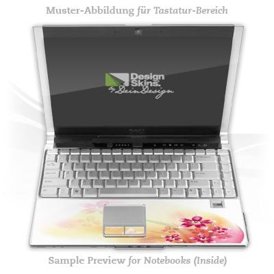 Design Skins für HP EliteBook 2530p Tastatur (Inlay) - Butterfly Orchid Design Folie