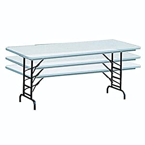 Correll Blow-Molded Adjustable Folding Table