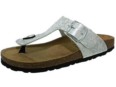 Bio Kitch argent, chaussures femme: Chaussures et Sacs
