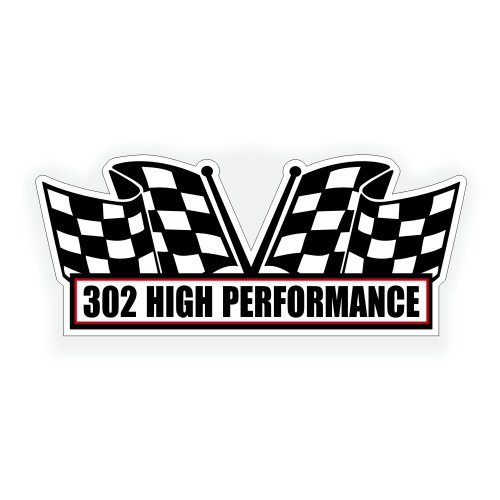 Air Cleaner Engine Decal - 302 High Performance For Classic Chevy Or Ford Muscle Car - 5x2.25 inch (302 Air Cleaner compare prices)