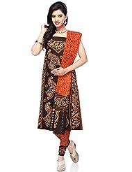 Utsav Fashion Women's Black Cotton Churidar Kameez- - B00NBPTKP2