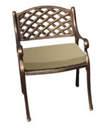 Hot mesh back cast aluminum outdoor arm chair best deal for Best patio set deals