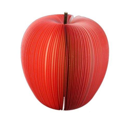 bloc-notes-memo-140-feuille-forme-3d-pomme-rouge-fruit-9x10cm