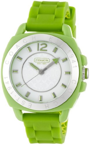 Coach Boyfriend Women's Watch 14501425 Jelly Silicone Strap Green