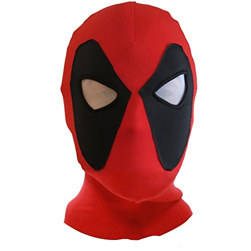 Koveinc Halloween mask Cosplay Costume Lycra Spandex Mask Red/Black Kids sizes