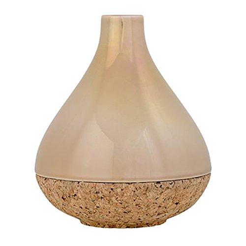 Bloomingville Vase, Glossy Beige mit Korkboden Ø14,5xH17 cm