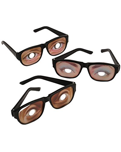 Funny Eyes Disguise Glasses (1 Dozen)