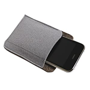 "Felt Multimedia Case Style 1, 3.5"" x 5"" - Light Gray"