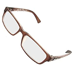 Printed Arm Brown Full Rim MC Lens Spectacles for Lady