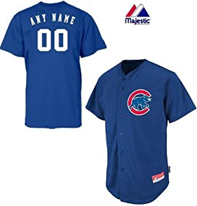 Chicago Cubs Full-Button CUSTOM or BLANK BACK Major League Baseball Cool-Base Replica... by Majestic Authentic Sports Shop