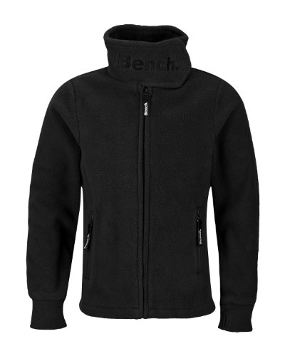 Bench Kinder Fleecejacke CORE FUNNEL NECK, black, 104, BGEK0153B_BK001