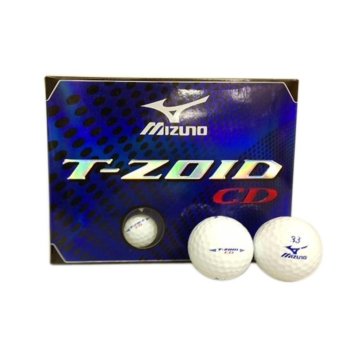 [해외] MIZUNO(미즈노) T-ZOID 티・조이드 CD 골프 볼 1다스 (12공입) 화이트  T-ZOIDCD