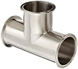 Dixon B7MP-G300 Stainless Steel 304 Sanitary Fitting, Clamp Tee, 3\