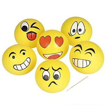 Buy 10\u0026quot; EMOJI FACE SMILE JELLY BALLOON BALL 1 DOZEN, 12 PACK ...