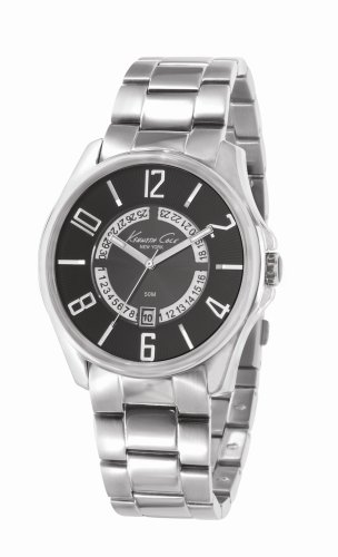 Kenneth Cole KC3860 Stainless Steel Bracelet Black Dial With Date Display Watch