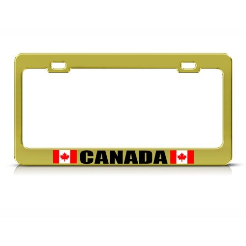 Canada Canadian Gold Country Metal License Plate Frame Tag Holder