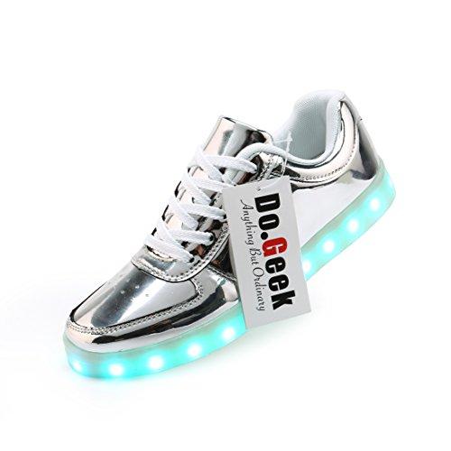 DoGeek Adulto Unisex Scarpe Led Luminosi Sneakers Con Le Luci Accendono Scarpe Sportive