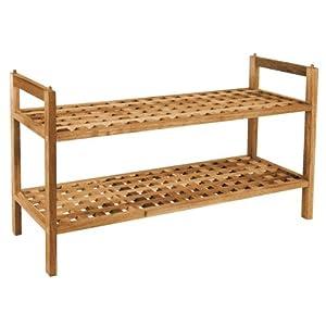 design schuhregal walnuss ge lt stapelbar 2 ablagen. Black Bedroom Furniture Sets. Home Design Ideas