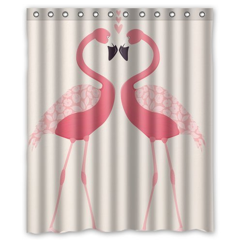 "Yestore Superior Custom Flamingo WaterProof Polyester Fabric 60"" x 72"" Shower Curtain"