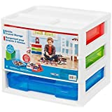 Bricks 3-Level Workstation and Storage Unit with 2 Carrying Cases and 1 Drawer