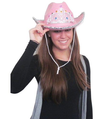Felt Pink Rhinestone Cowboy Hat