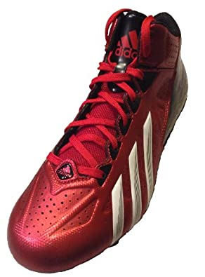 Adidas Mens FilthyQuick Mid D Red Black White, 7.5 by adidas