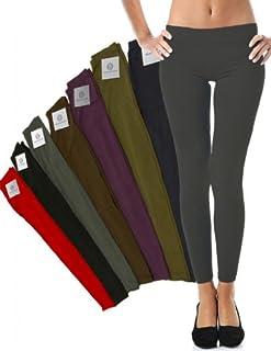 Mato & Hash Women's 90/10 Cotton Spandex Tights Pant Leggings Dark Grey XL