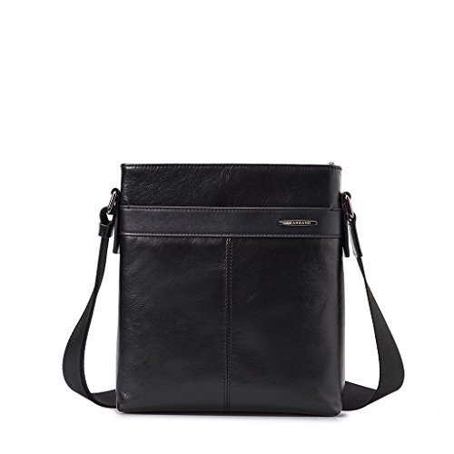 Borsello uomo in vera pelle a tracolla Borsa messenger porta iPad Gear Band Nero