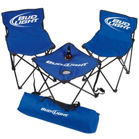Bud Light Camping Chairs & Table Set