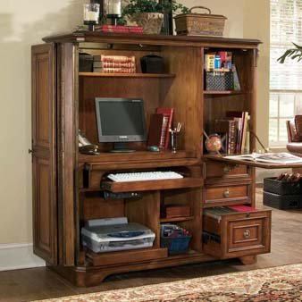 Hooker Brookhaven Computer Armoire - 281-10-309