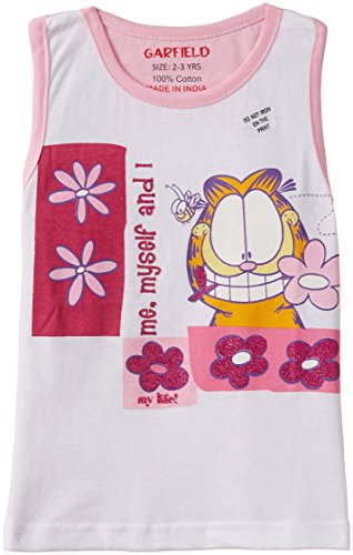 Garfield Garfield Girl's T-Shirt (Multicolor)