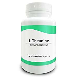Pure Science L-Theanine 400mg - Super Strength and High Quality, Designed for Easy Swallowing and Quick Absorption - 50 Vegetarian Capsules by Pure Science
