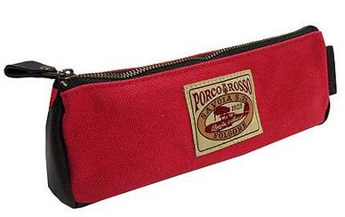 Red pig gibritaglabel long pouch Red