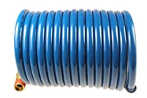 Coilhose Pneumatics S14-12B Stowaway Heavy Duty Nylon Coiled Air Hose, 1/4-Inch ID, 12-Foot Length with (2) 1/4-Inch MPT Swivel Fittings