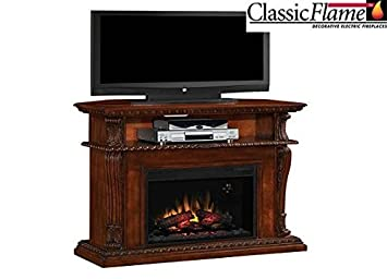 Corinth Electric Fireplace Entertainment Center - Vintage Cherry