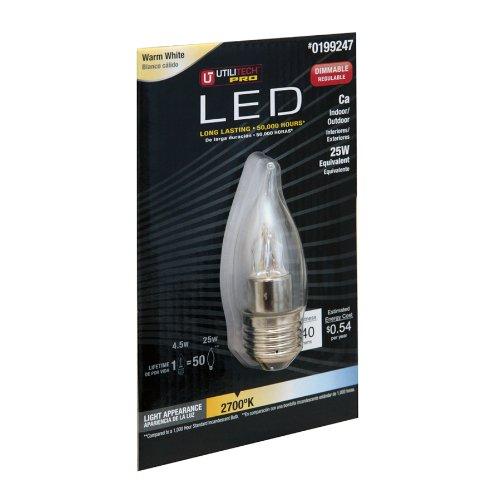 Utilitech Pro 4.5-Watt (25W) 199247 Warm White (2700K) Decorative Led Bulb