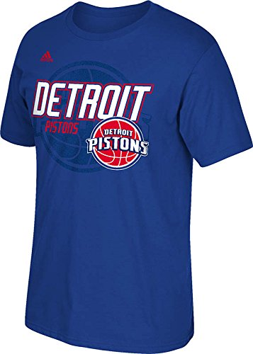NBA Detroit Pistons Men's Distressed Back Logo Go-To Tee, X-