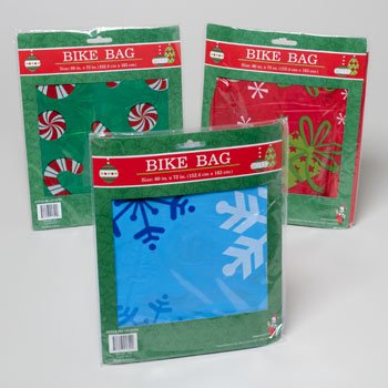 1 Plastic Christmas/Holiday Bike Gift Bag, 60x72 by Regent Products