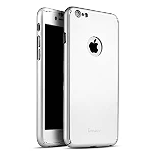 """iPAKY 360 Degree All-round Protective Slim Fit Case Cover for Apple iPhone 6 / 6S ( Silver ) - 4.7"""" + Tempered Glass Screen Protector"""