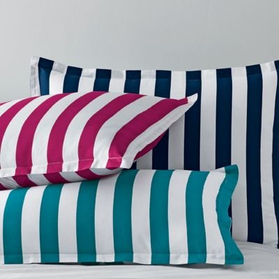 Channel Stripe Fitted Sheet, Queen - The Company Store