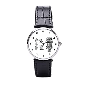 Dr. Koo International Morse Code Leather Watch Cuff Morse Matters Custom Leather Watch