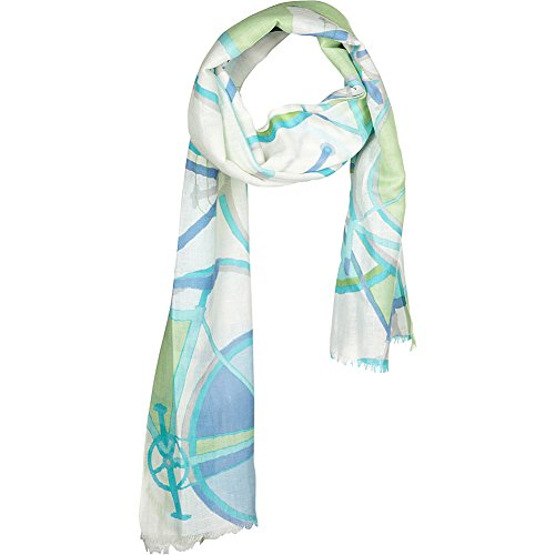 kinross-cashmere-bicycle-print-scarf-aqua-multi
