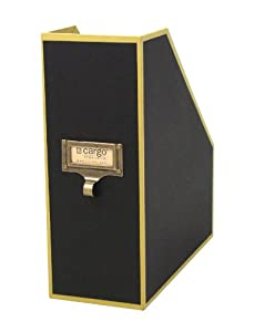 Cargo Atheneum Magazine File Box, Black, 11 by 10 by 4-Inch