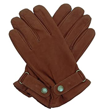 Dents Men's Rancher's Gloves Fleece Lined Leather Brown - L - 9.5""