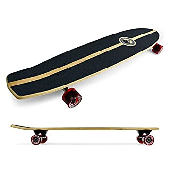"SlimKick tail Graphic Longboard Complete Skateboard Cruise Vintage Style 36"" x 8"""