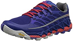 Merrell Women\'s All Out Peak Trail Running Shoe, Royal Blue/Orange, 6.5 M US
