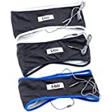 CozyPhones Sleep Headphones & Travel Bag , Lycra Cool Mesh Lining And Ultra Thin Speakers. Perfect For Sleeping, Sports, Air Travel, Meditation And Relaxation - BLACK